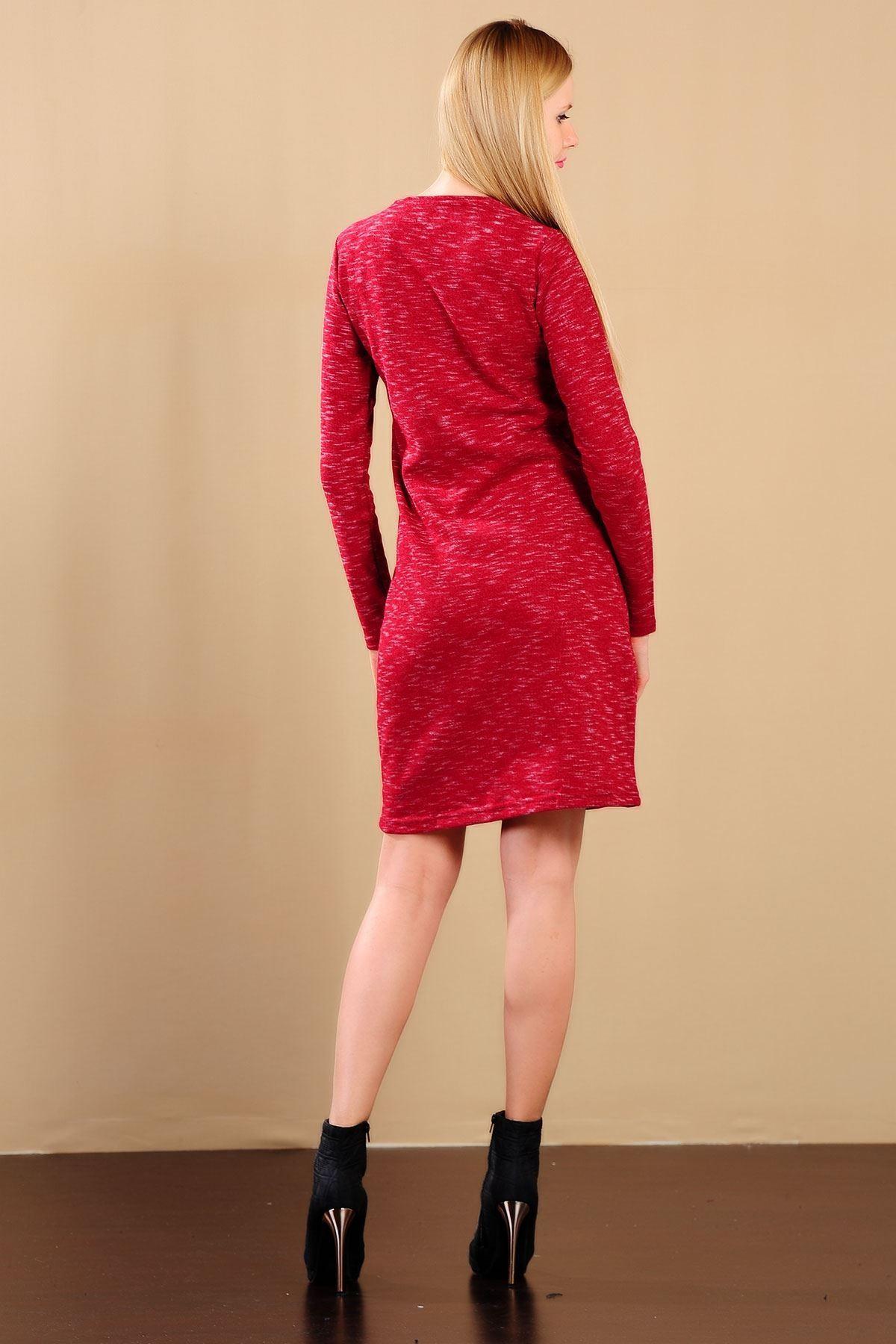 Bayan Kırçıllı Kırmızı Sweat