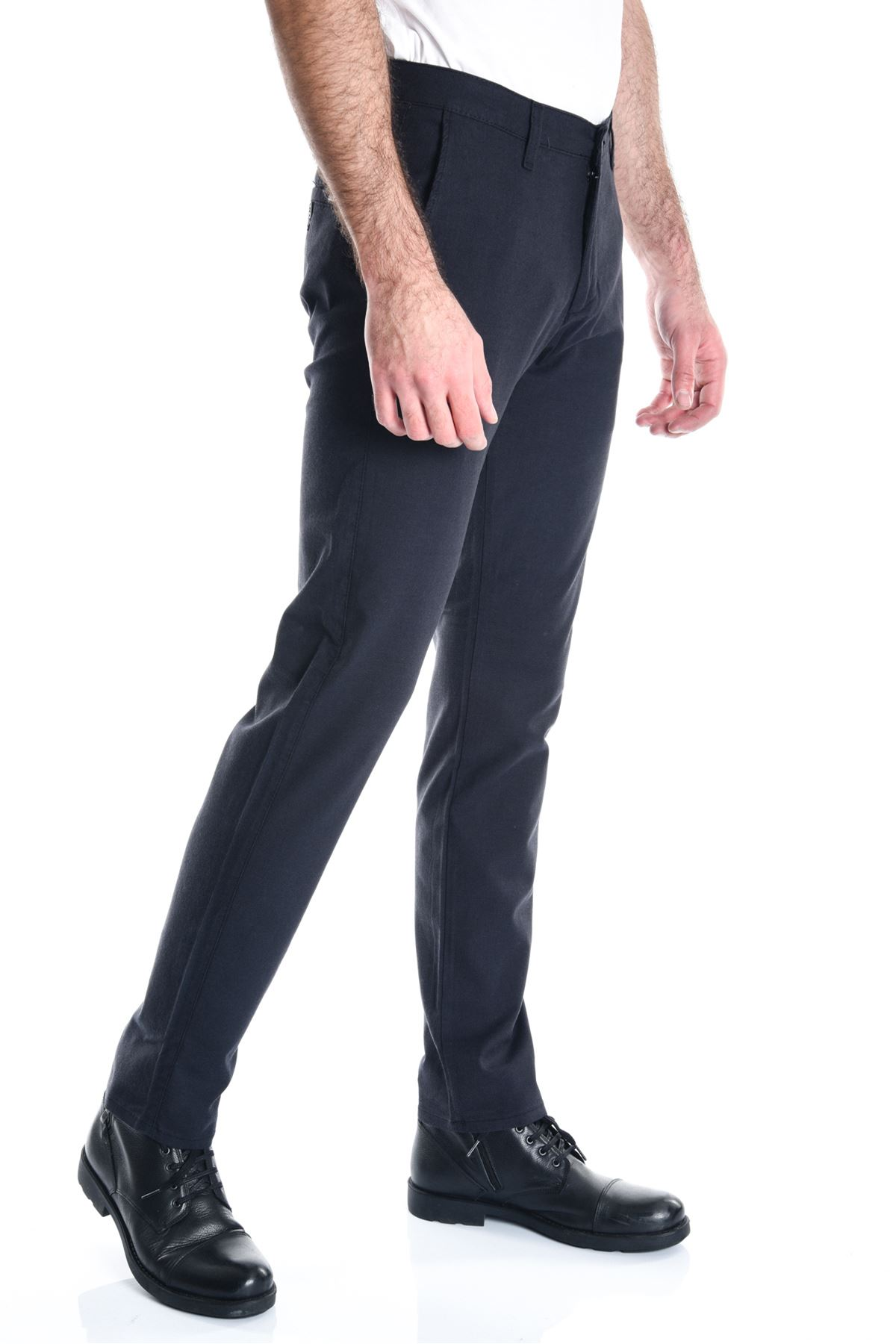 Antrasit Yeni Ekose Slimfit Erkek Chino Pantolon