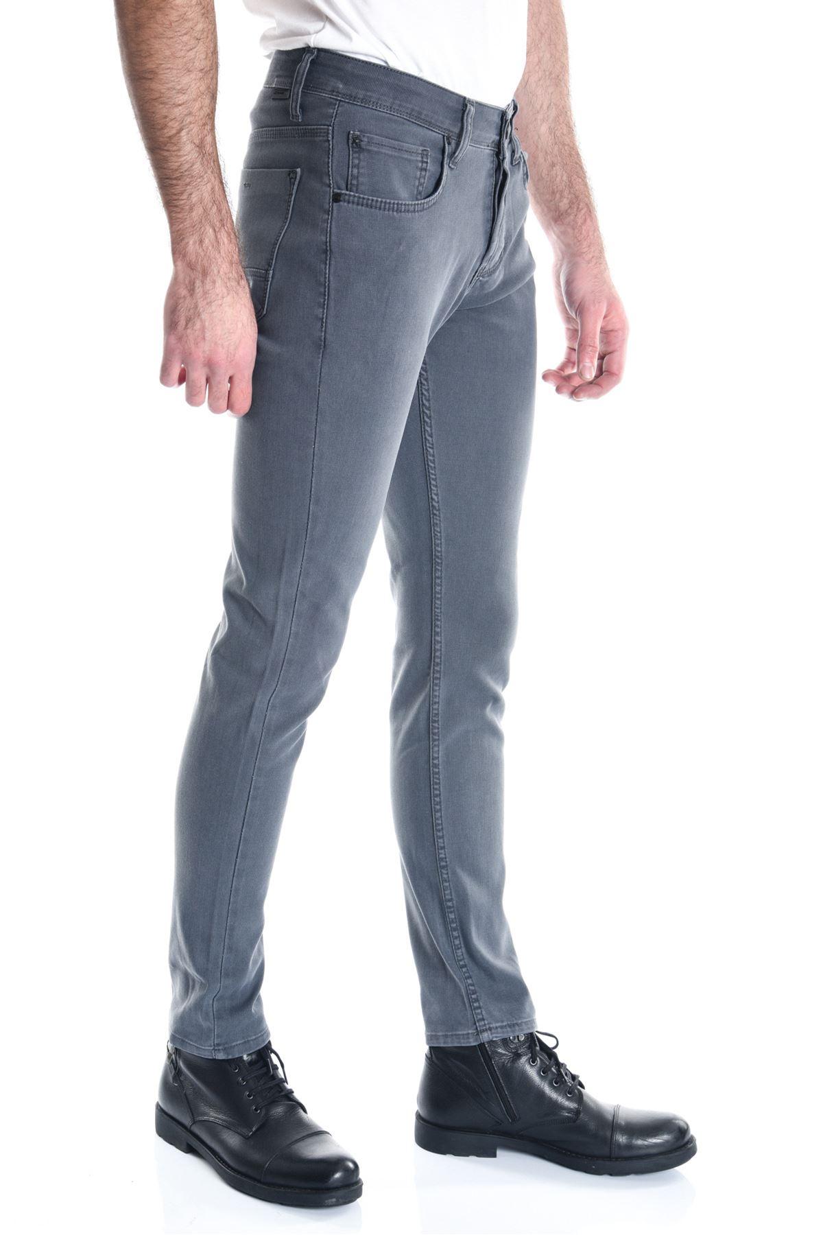 Antrasit Sade Slimfit Erkek Kot Pantolon