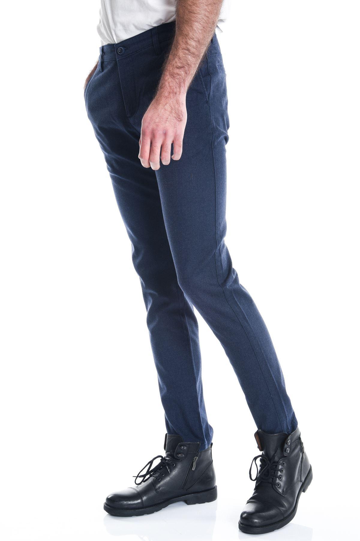 Açık Lacivert Slimfit Erkek Chino Pantolon