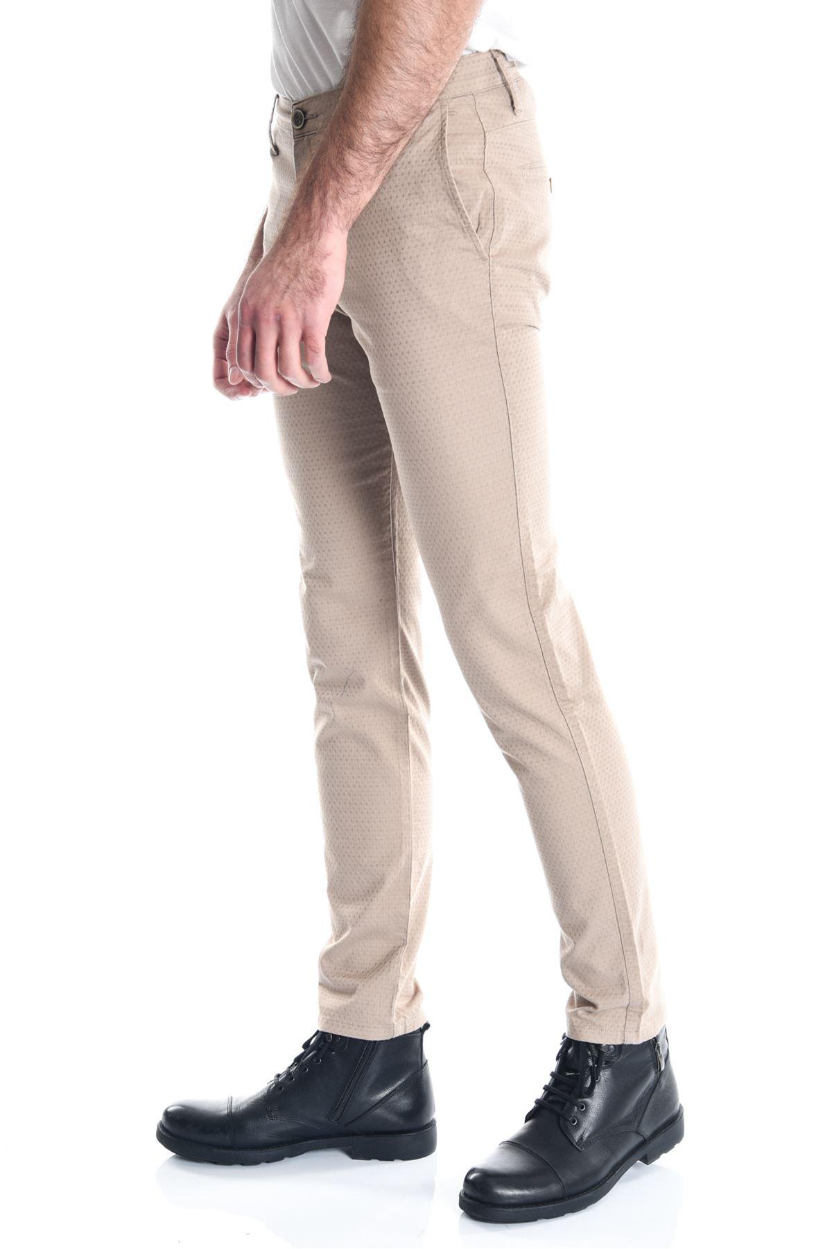 Bej Pitikare Slimfit Erkek Chino Pantolon
