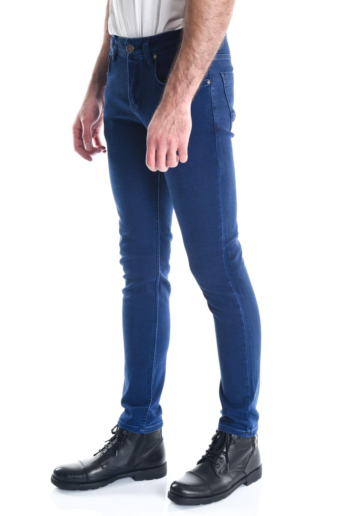 Erkek Mavi Slimfit Kot Pantolon