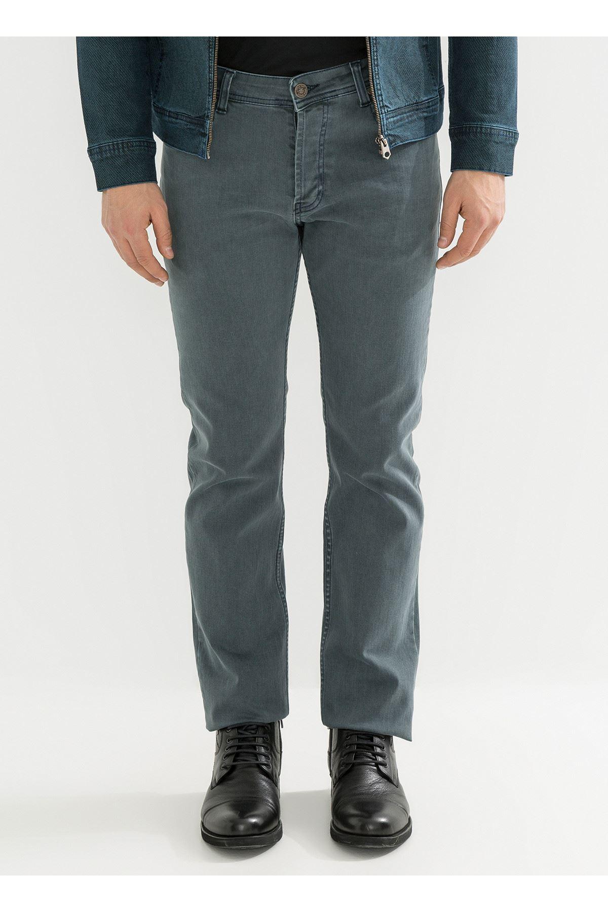 Haki Yeşili Regular Fit Erkek Kot Pantolon