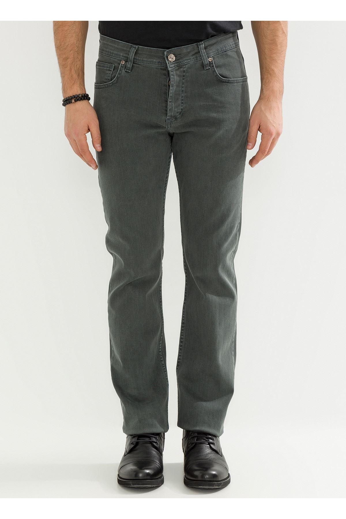 Haki Regular Erkek Kot Pantolon