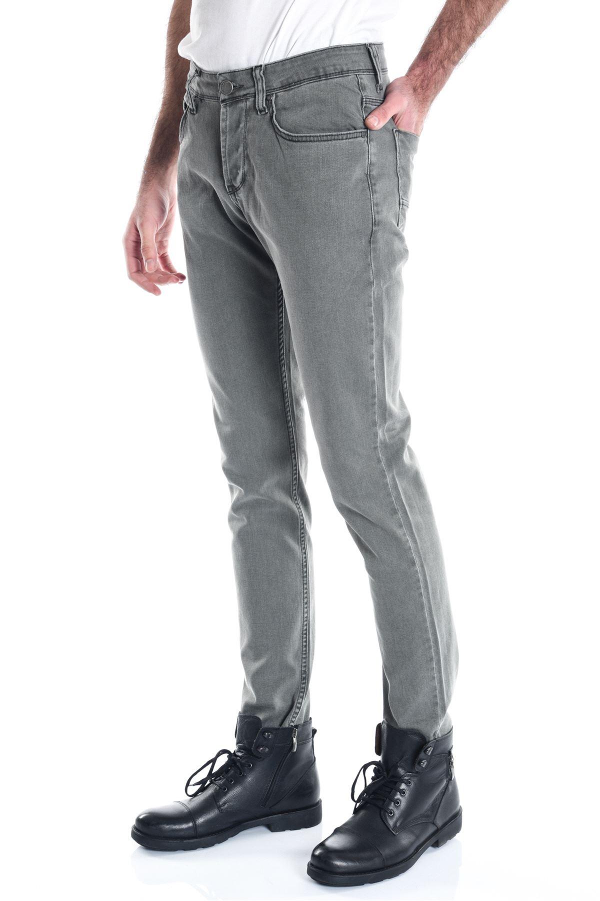 Haki Sade Slimfit Erkek Kot Pantolon