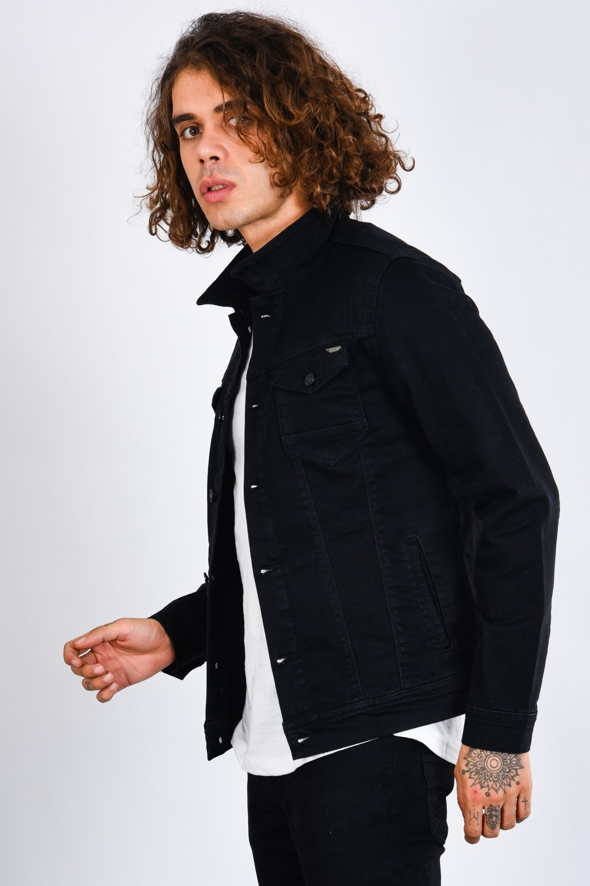 Klasik Erkek Siyah Kot Ceket