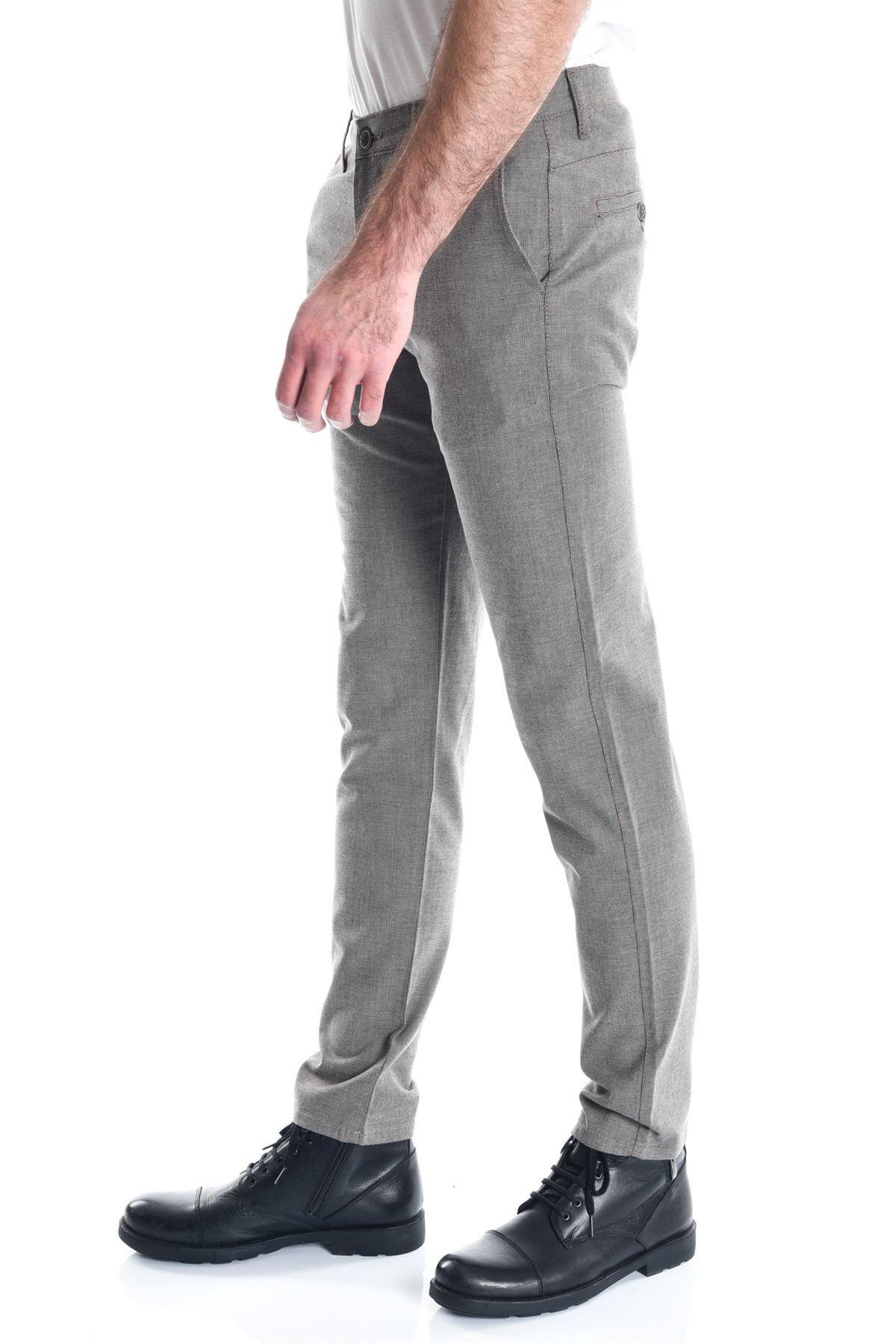 Kum Armürlü Slimfit Erkek Chino Pantolon
