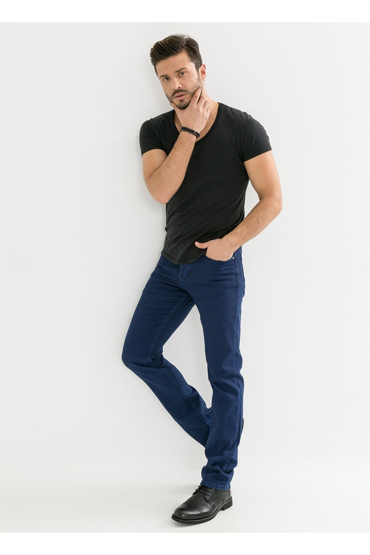 Mavi Sade Erkek Kot Pantolon