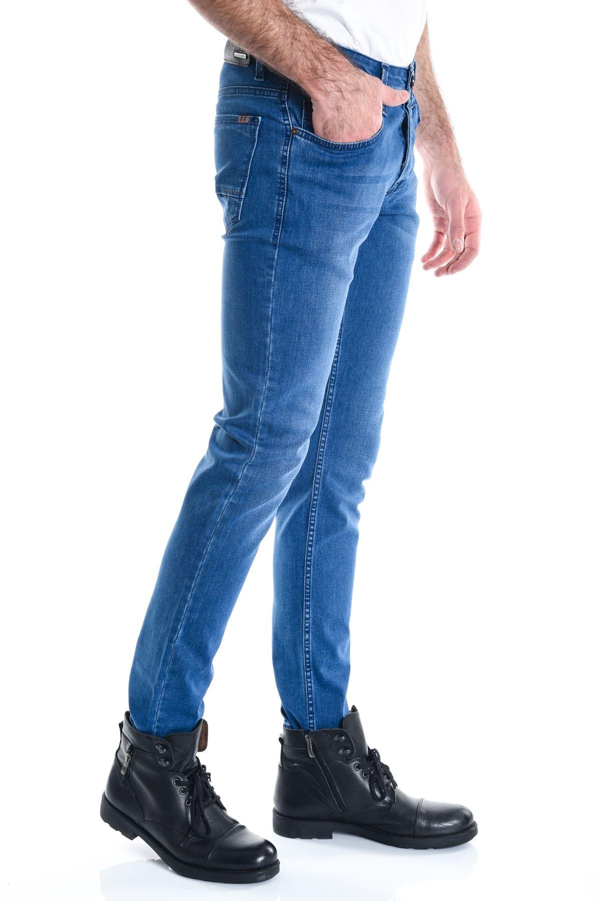 Mavi Koyu Slimfit Erkek Kot Pantolon