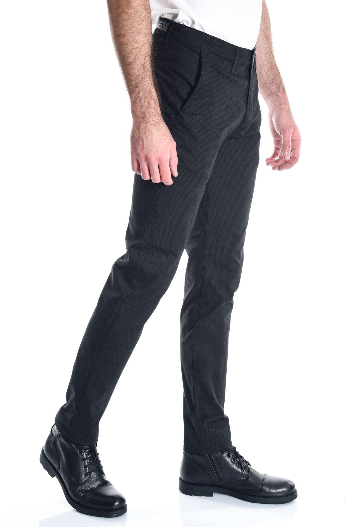 Siyah Desenli Chino Erkek Pantolon