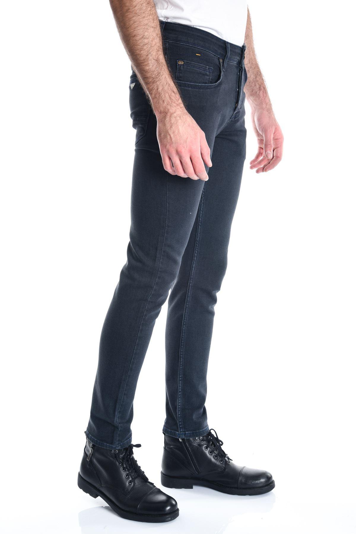 Örme Kumaş Petrol Erkek Kot Pantolon