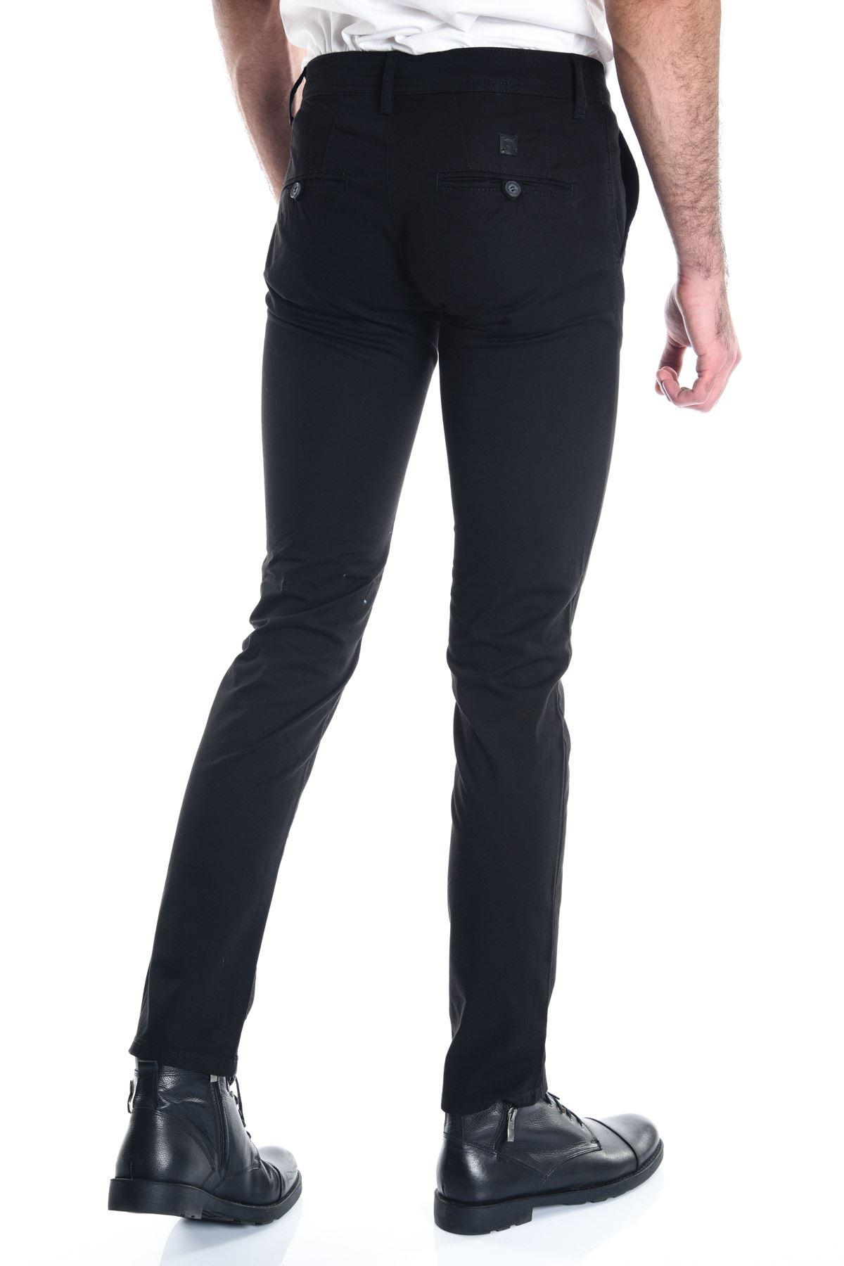 Siyah Erkek Slimfit Chino Pantolon