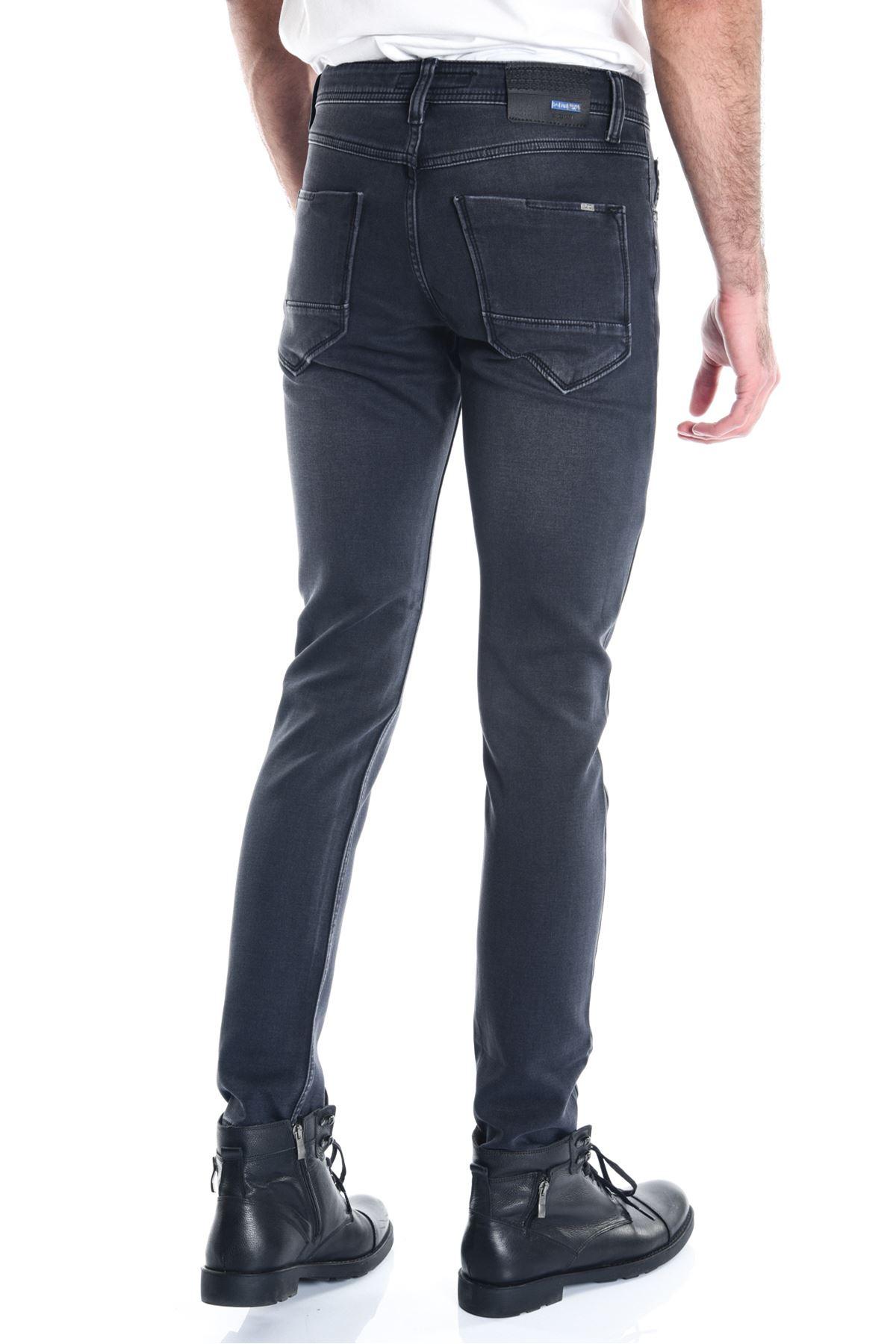 Siyah Örme Rodeo Slimfit Erkek Kot Pantolon
