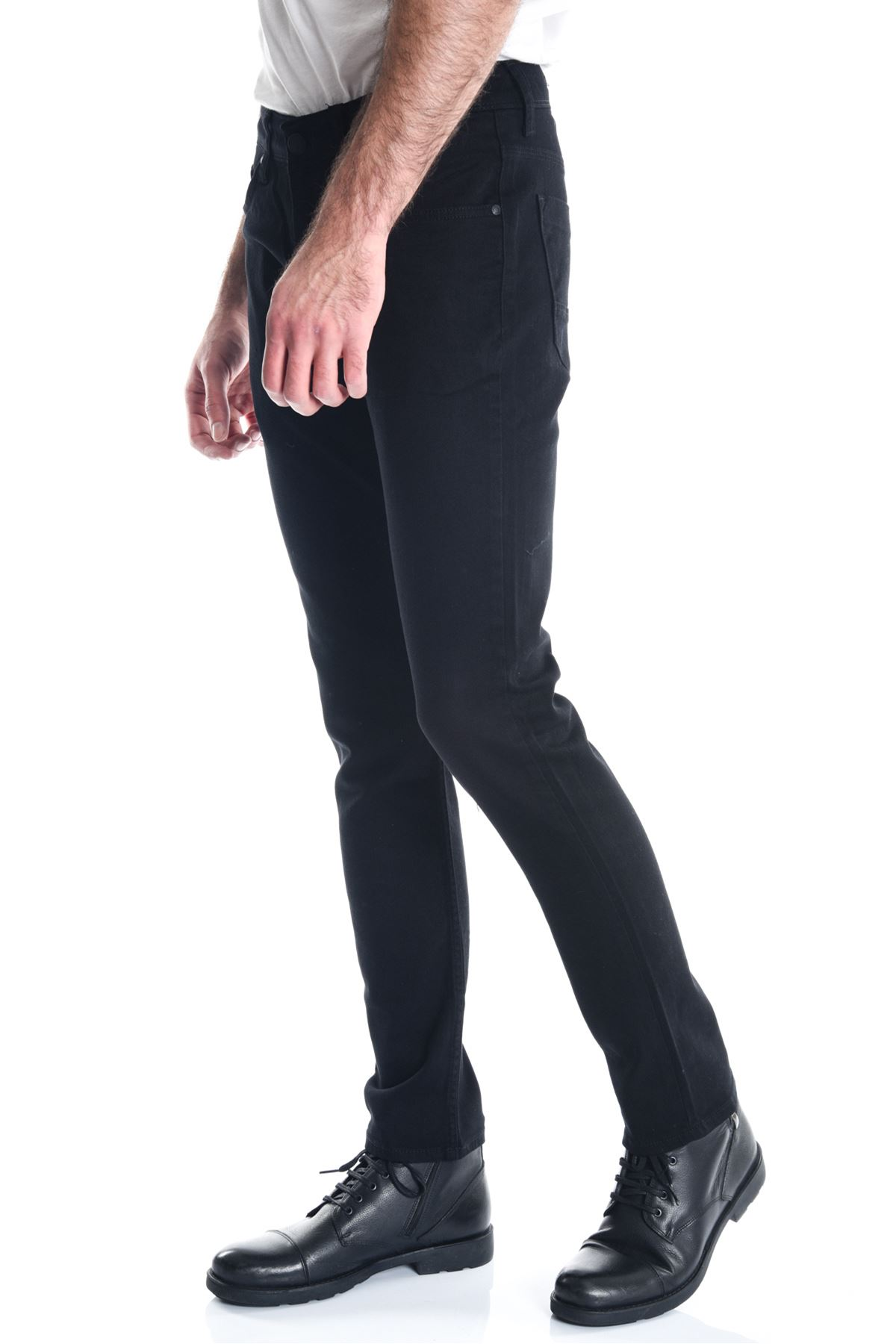 Siyah Sade Slimfit Erkek Kot Pantolon