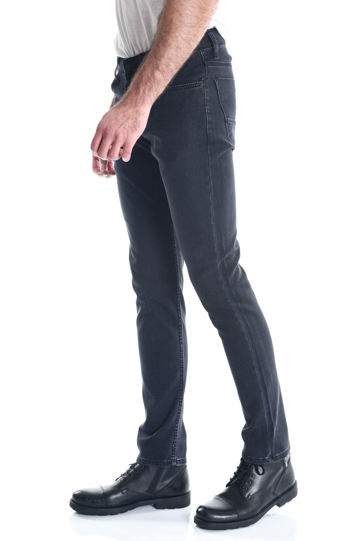 Siyah Pitikare Slimfit Erkek Kot Pantolon