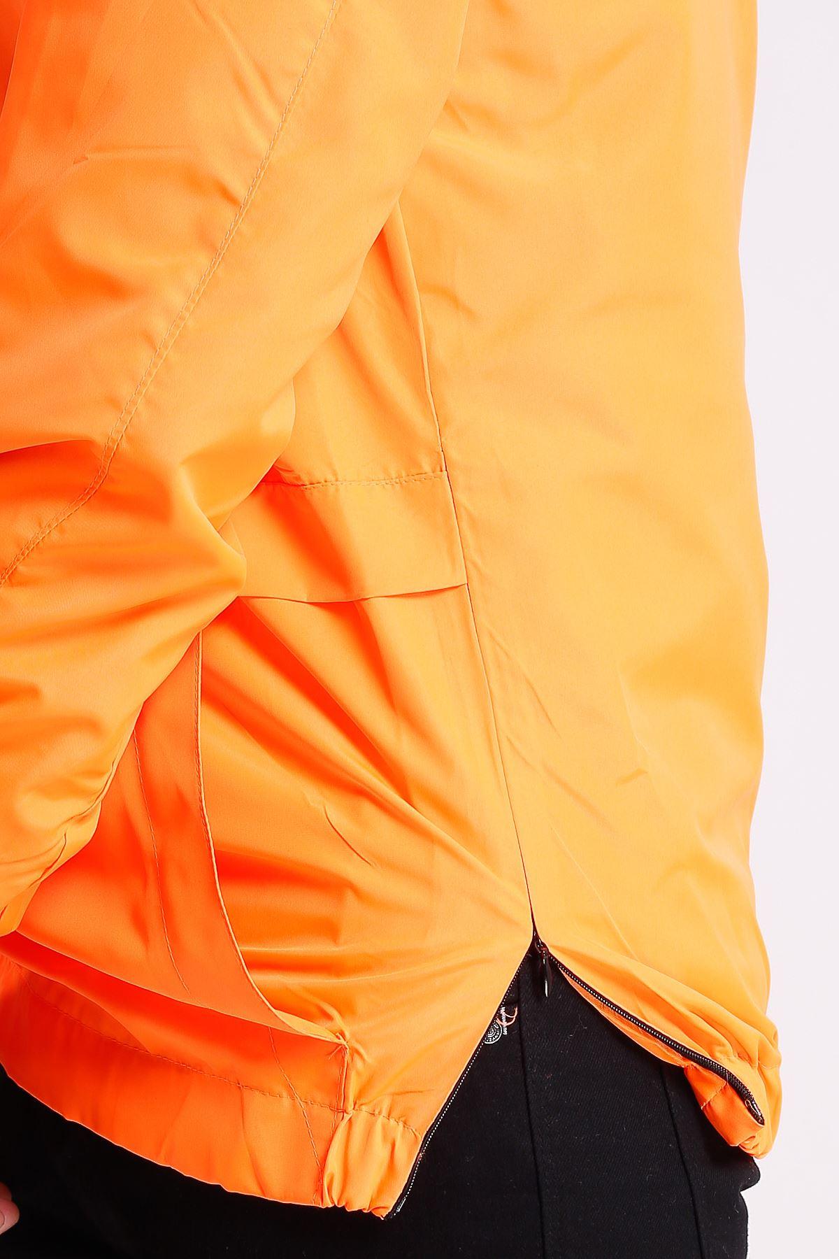 Erkek Kapüşonlu Kanguru Cepli Su geçirmez Gül Rengi Yağmurluk