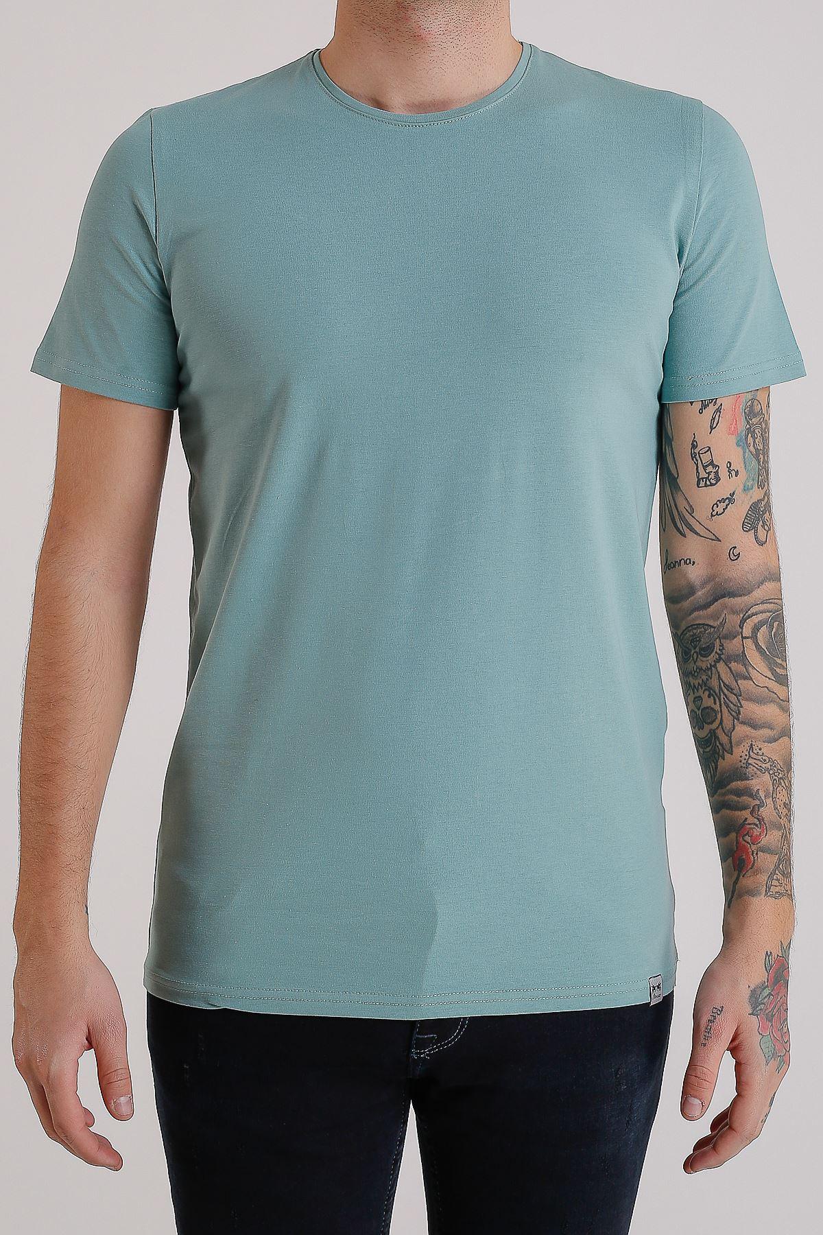 Bisiklet Yaka Basic Kuvars Erkek T-Shirt