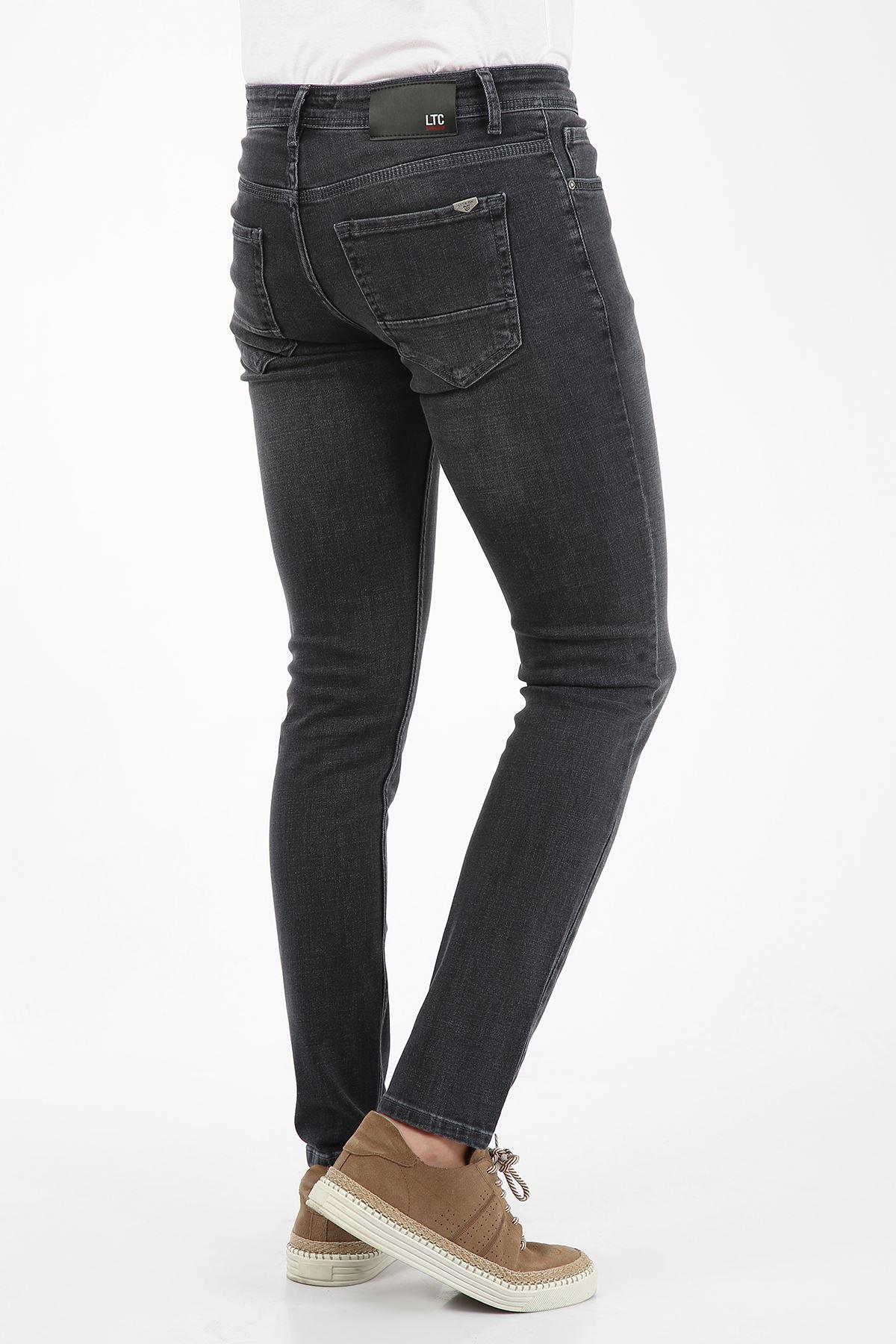 Blue Black Slim Fit Fermuarlı Erkek Jeans Pantolon-JONAS