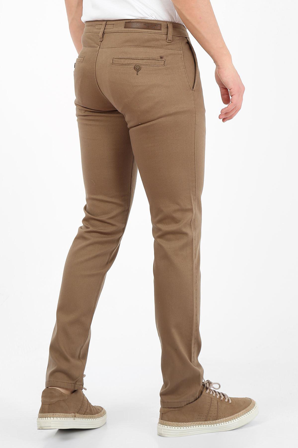 Camel Slim Fit Erkek Chino Pantolon -OLİVER